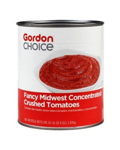 Gordon Choice Fancy Midwest Concentrated Crushed Tomatoes - #10 Can  (CASE)