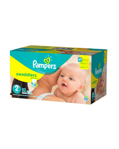 Pampers Swaddlers Disposable Baby Diapers, Size 2 - 92 Cnt (Piece)