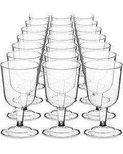 PLASTIC CUP WINE GLASS   10X10 - 100 ct (Piece)