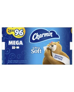 Charmin Essential Soft Mega Roll Toilet Paper - 24 (Piece)