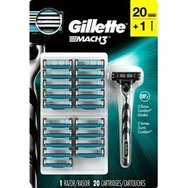 Gillette MACH3 Razor and Cartridges 20 ct (Piece)
