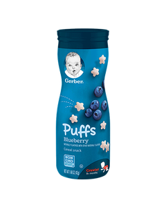 Gerber Puffs Snack Cups, Bluberry - 1.48 oz