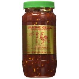 Sauce Pepper Sambal Oelek - 18 oz. (CASE)