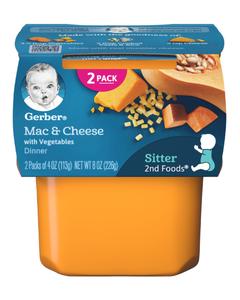 Gerber 2nd Foods Mac & Cheese w/ Vegetables Dinner - 4 oz