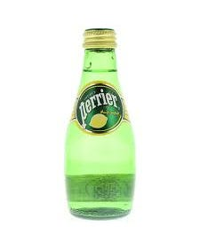 Perrier Lemon Flavored Carbonated Mineral Water, Glass - 20 CL