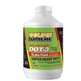 Golden Supreme Synthetic Break Fluid DOT 3, Super Heavy Duty - 12 OZ