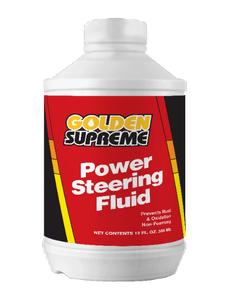 Golden Supreme Power Steering Fluid - 12 OZ