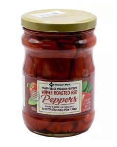 Member's Mark Whole Roasted Red Peppers - 33.5 oz. (Piece)