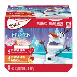 Yoplait Kids Strawberry Banana/Strawberry Flavored Yogurt - 32 oz (CASE)