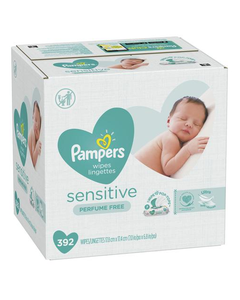Pampers Sensitive Baby Wipes -392 CT (Piece)