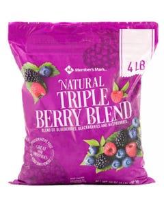 Member's Mark Natural Triple Berry Blend - 4 Lbs (Piece)