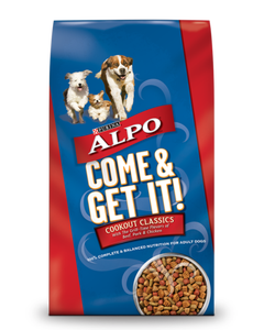 Purina Alpo Come & Get it! Cookout Classics with Beef, Pork & Chicken flavors, Adult Dog Food - 4 Lb (CASE)