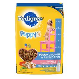 Pedigree Dry Dog Food Puppy Chicken & Vegetable Flavor - 7.4 kg bag (Piece)