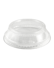 World Centric Cold Cups, Portion Holder Lid, Clear - 24 OZ (CASE)