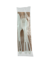 """World Centric Fork , Knife, Spoon, Napkin 6"""" - 250 Count (Piece)"""