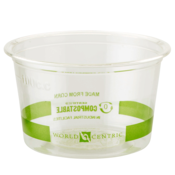 World Centric Portion Cup, Clear - 4OZ, 1000 Count (CASE)