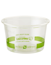 World Centric Portion Cup, Clear - 4OZ, 1000 Count (Piece)