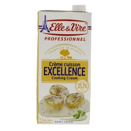 Elle & Vire Professional Excellence Cooking Cream - 1 Ltr (CASE)