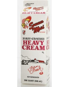 Sommer Maid Heavy Whipped Cream 36% - 32 oz (CASE)