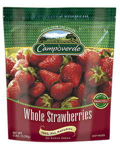 Campoverde Frozen Whole Strawberries - 5 Lbs (CASE)