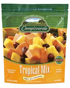 Campoverde Frozen Tropical Fruit Mix - 5 Lbs (CASE)