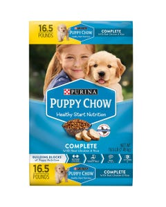 Purina Puppy Chow Complete Dry Puppy Food w/Real Chicken & Rice - 16.5 Lbs (Piece)