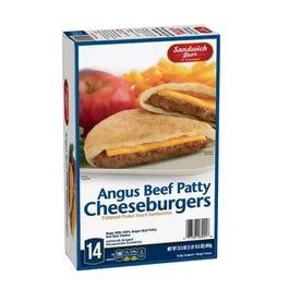 Sandwich Bros. Angus Cheese-Burgers Flatbread 24oz. - 14ct (Piece)