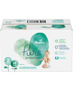 Pampers Pure Protection Disposable Baby Diapers Size 2, Super Pack - 68 Cnt (CASE)