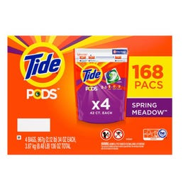 Tide PODS Liquid Laundry Detergent Pacs, Spring Meadow - 168 ct. (Piece)