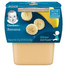 GERBER 2ND FOODS Banana MP - 4 OZ (CASE)
