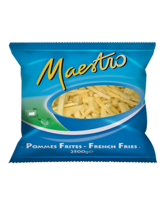 Maestro Straight Cut Fries  - 2.5KG (CASE)