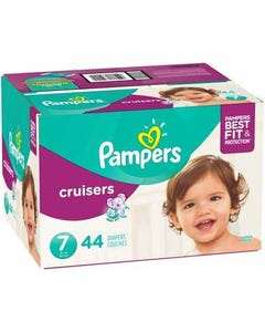 Pampers Cruisers Disposable Baby Diapers, Size 7 - 44 Cnt (Piece)