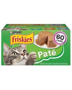 Purina Friskies Pate Wet Cat Food, Variety Pack - 60/5.5 oz.