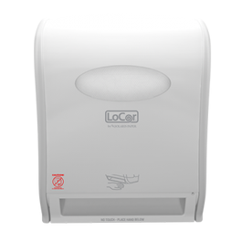 LoCor Electronic Hard Wound Roll Towel Dispenser, White - Unit (Piece)