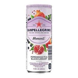 San Pellegrino Momenti Pomegranate and Blackberry Sparkling Drink - 330 ML