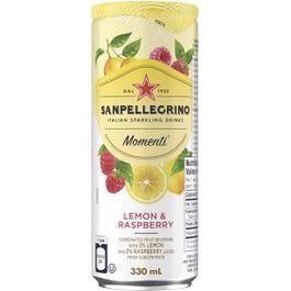 San Pellegrino Momenti Lemon and Raspberry Sparkling Drink - 330 ML