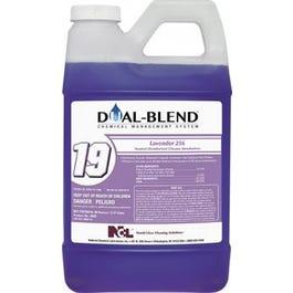 DUAL BLEND #19 Lavender 256 Neutral Disifectant Cleaner Deodorizer - 80 oz (CASE)
