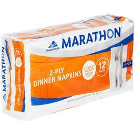 Marathon Fold Dinner Napkin, White - 1200 Napkins (Piece)