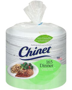"""Chinet Classic White 10-3/8"""" Dinner Plates (165 ct.) (Piece)"""