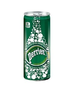 Perrier Carbonated Mineral Water, Slim Can - 250 ML