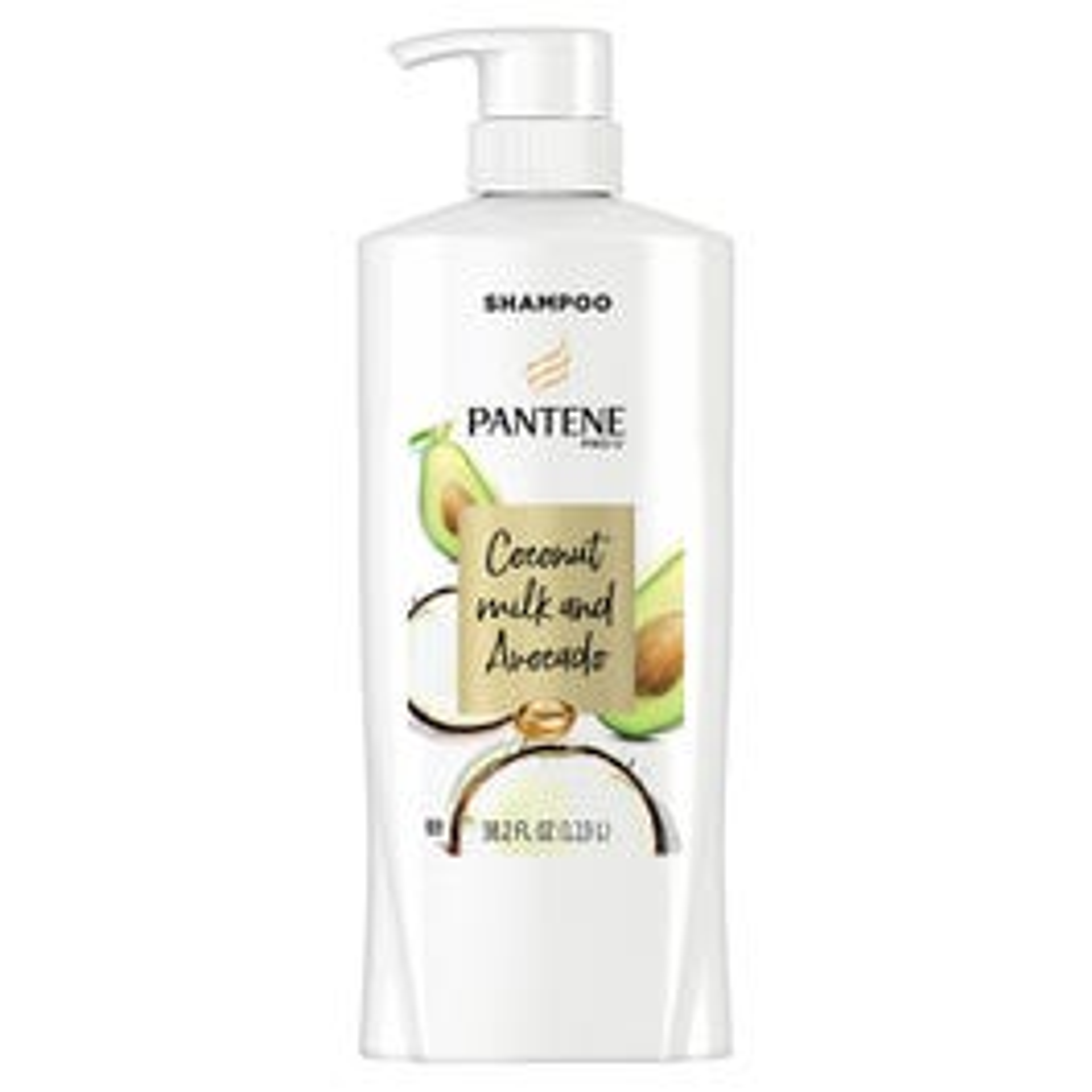 Pantene Pro-V, Coconut Milk & Avocado Moisturizing Shampoo for Dry Hair - 38.2 fl. oz. (Piece)