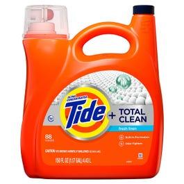 Tide Total Clean Ultra Concentrated Liquid Laundry Detergent, Fresh Linen (88 loads,150 fl oz.) (Piece)