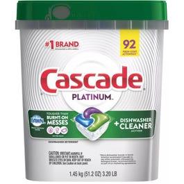 Cascade Platinum ActionPacs Dishwasher Detergent, 92 CT (Piece)
