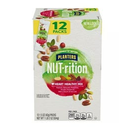 Planters NUT-rition Heart Healthy Nut Mix (1.5 oz. Pouches, 12 ct.) (Piece)
