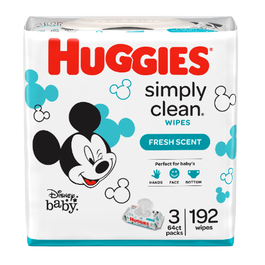 Huggies Simply Clean Fresh Scent Baby Wipes - 192 Cnt (Piece)