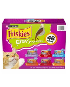 Purina Friskies Gravy Pleasers, Variety Pack (5.5 oz., 48 ct.) (CASE)