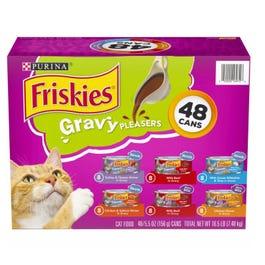 Purina Friskies Gravy Pleasers, Variety Pack (5.5 oz., 48 ct.) (CASE)
