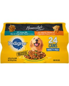 Pedigree Homestyle Choice Cuts Wet Dog Food, Variety Pack - 13.2oz