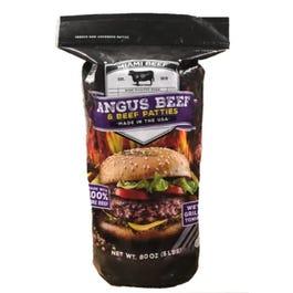 Miami Beef Frozen Beef Angus Patties 5.3 oz. - 5 lbs