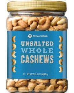 Member's Mark Unsalted Whole Cashews (33 oz.) (Piece)